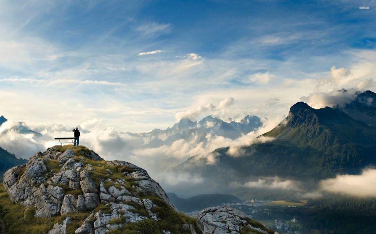 mountain top view